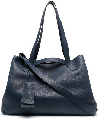 Marsèll Pebbled Texture Tag Detail Tote Bag