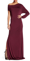 Young Fabulous & Broke One Shoulder Long Sleeve Ruched Maxi Dress