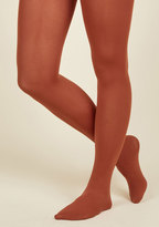ModCloth Accent Your Ensemble Tights in Clay in M