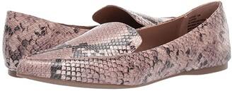 Steve Madden Feather Loafer (Blush Snake) Women's Flat Shoes