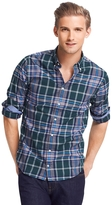 Tommy Hilfiger Final Sale- Custom Fit Heathered Check Shirt- Final Sale