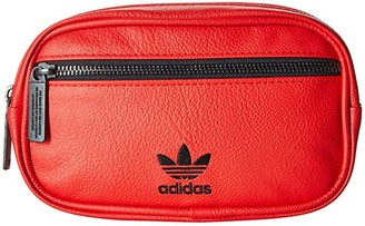 adidas Originals PU Leather Waist Pack (Scarlet) Bags