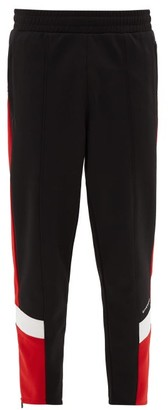 Givenchy Panelled Technical-blend Track Pants - Mens - Black Red