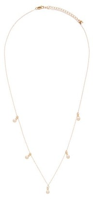 Mateo 5 Point Pearl & 14kt Gold Necklace - Pearl
