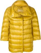 Herno three quarter sleeve puffer jacket