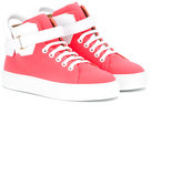 Buscemi Kids - strapped hi-top sneakers - kids - Leather/rubber - 25