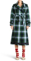Burberry Women's Tartan Cotton Gabardine Trench Coat