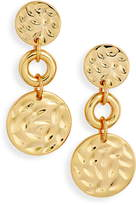 Sterling Forever Hammered Circle Drop Earrings
