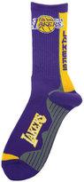 For Bare Feet Los Angeles Lakers Team Vortex Crew Socks