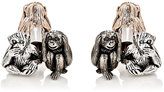 Jan Leslie Men's Three-Wise-Monkeys Cufflinks