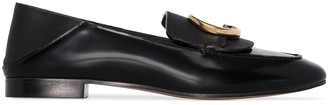 Chloé black C leather loafers