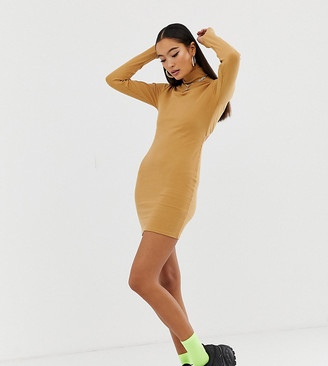 Collusion bodycon dress with open back