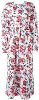 MSGM floral print maxi dress