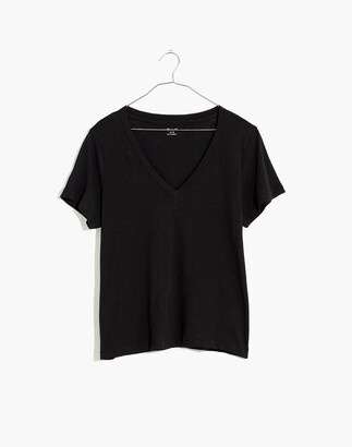 Madewell Plus Whisper Cotton V-Neck Tee