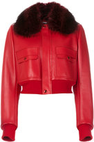 Givenchy fur-lined bomber jacket