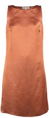 Muza Satin Sleeveless Knee-Length Dress
