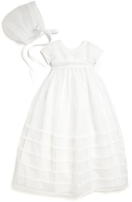 Isabel Garreton Baby's Two-Piece Organza Christening Gown & Bonnet Set