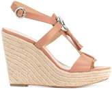 MICHAEL Michael Kors 'Darien' tassel-embellished wedges - women - Calf Leather/Leather/rubber - 9