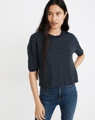 Madewell Cherry Jacquard Top