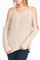Olivaceous Cold Shoulder Sweater