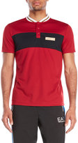 Emporio Armani Color Block Perforated Polo