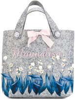 MonnaLisa floral appliquéd tote - kids - Polyester/Viscose - One Size