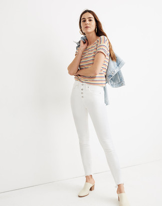 """Madewell 10"""" High-Rise Skinny Jeans in Pure White: Step-Hem Edition"""