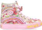 Lelli Kelly Kids Heart mid canvas trainers 5-9 years