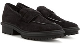Balenciaga Shearling-lined Suede Loafers