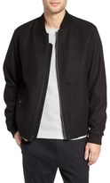 Michael Kors Wool Blend Bomber Jacket