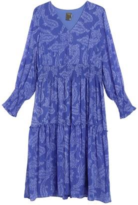Taylor Clip Dot Print Dress (Plus Size)