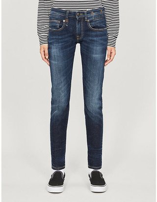R 13 Straight mid-rise jeans