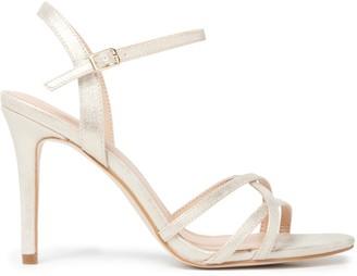 Forever New Penny Cross Vamp Stiletto Heels - Gold Shimmer - 36