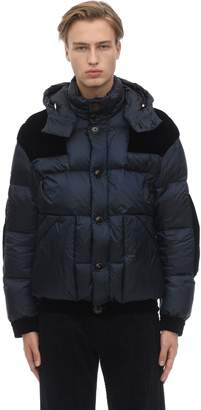 Giorgio Armani Hooded Down Jacket W/velvet Details