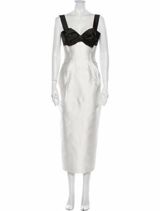 Rasario Silk Long Dress w/ Tags White