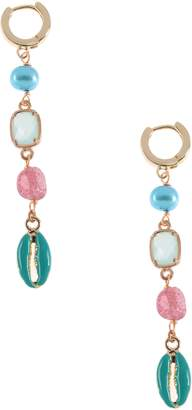 Nakamol Chicago Cultured Pearl & Shell Linear Drop Earrings