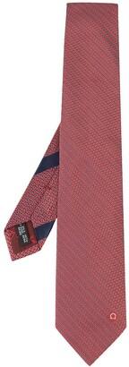 Salvatore Ferragamo Geometric Embroidered Tie