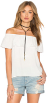 1 STATE Cold Shoulder Ruffle Blouse