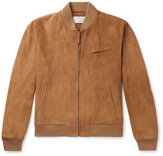 Gabriela Hearst Gregory Suede Bomber Jacket
