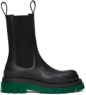 Bottega Veneta Black Leather Chelsea Boots