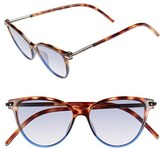 Marc Jacobs Women's 53Mm Cat Eye Sunglasses - Havanabrownblue