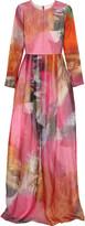 Matthew Williamson Printed silk-organza gown
