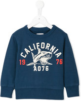 American Outfitters Kids - shark print sweatshirt - kids - Cotton - 8 yrs