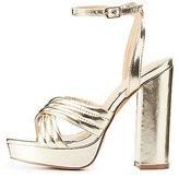 Charlotte Russe Metallic Chunky Platform Sandals
