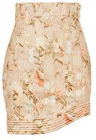 Zimmermann Corselet Floral Mini Skirt