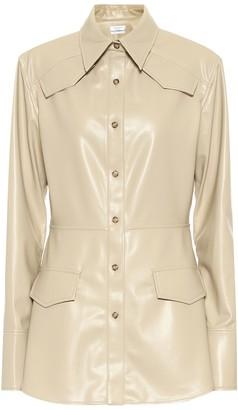 Deveaux Sierra faux leather blazer