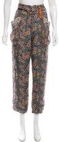 Isabel Marant Silk Cropped Pants