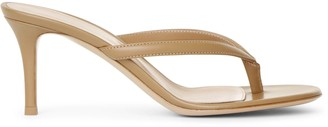 Gianvito Rossi Calypso 70 tan leather sandals