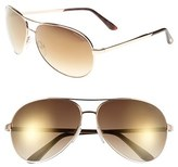 Tom Ford Women's 'Charles' 62Mm Sunglasses - Shiny Rose Gold/ Havana