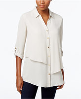 JM Collection Petite Tiered Blouse, Only at Macy's